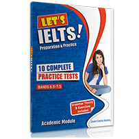 10 COMPLETE PRACTICE TESTS + BOOKLET LET'S IELTS
